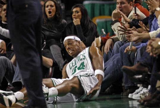 Paul Pierce and the Celtics hope they don't get floored again by the Pacers tonight. Indiana won the first meeting, 95-79.