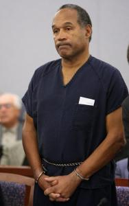 O.J. Simpson appeared before Judge Jackie Glass yesterday during his sentencing on charges of armed robbery.