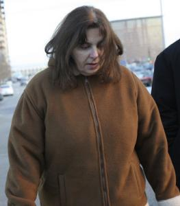 Lorraine Henderson left the federal courthouse yesterday.