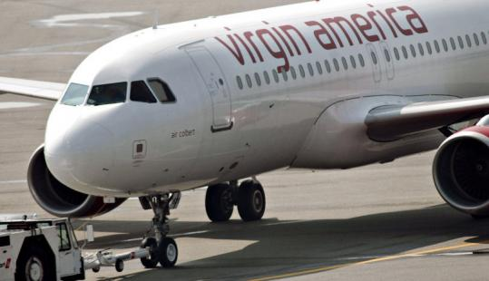Discount airline Virgin America will fly from Boston to Los Angeles and San Francisco starting in February.