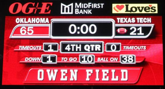 Does this result really demonstrate that Oklahoma instead of Texas should be in the national championship game?