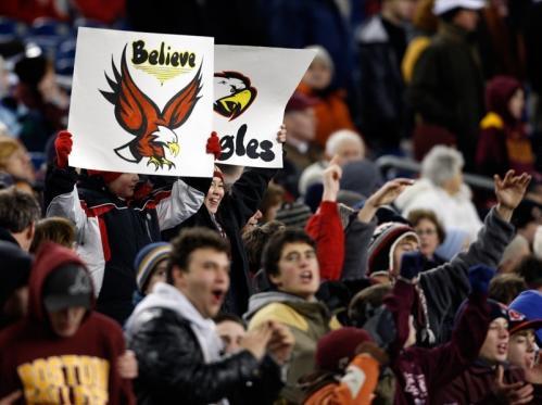 BC High fans cheer their team.