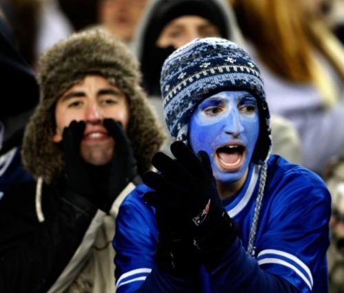 A Dracut fans shows his colors.