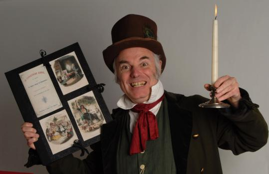Al LePage presents his solo version of Charles Dickens' ''A Christmas Carol,'' based on the author's original stage notes, in Natick and Sudbury this weekend to benefit local food pantries.