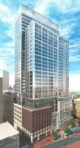 The developers of the former Filene's property now want to reduce the project by seven floors.