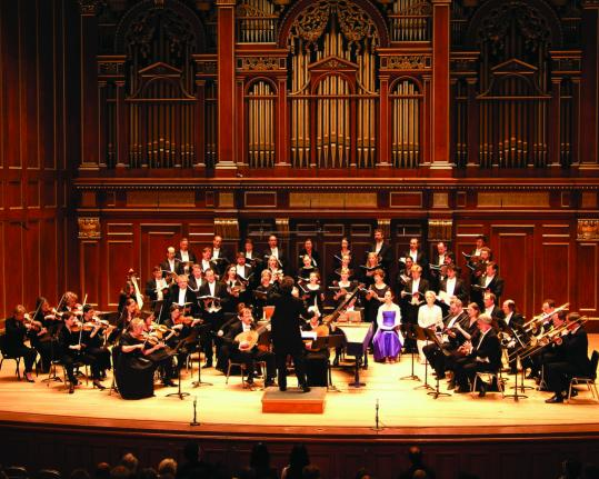 Boston Baroque (here in 2004), with music director Martin Pearlman, at Jordan Hall.