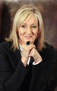 The stories in the new book by J.K. Rowling (left) range from whimsical to dark.