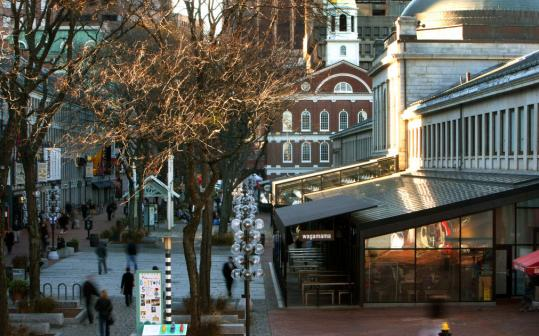 Faneuil Hall Marketplace, which sparked a revival of city life, is still an award winner.