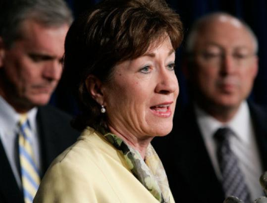 Maine's Republican senators, Susan Collins (above) and Olympia Snowe, have indicated a willingness to seek common ground with Democrats on elements of Barack Obama's agenda such as energy and healthcare.
