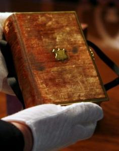The Bible that Abraham Lincoln used to take the oath of office in 1861.