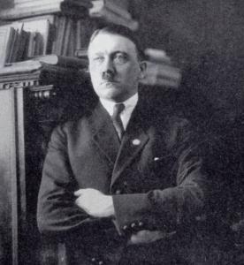 Adolf Hitler, circa 1925, in his first Munich apartment.