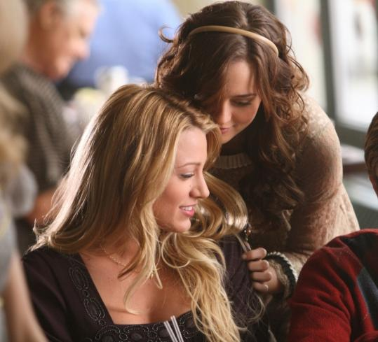 Above: Blake Lively (left) and Leighton Meester on the CW's ''Gossip Girl.''