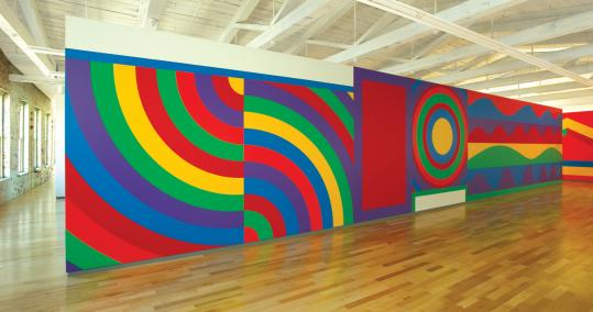 ''Wall Drawing 915'' is part of a sprawling Sol LeWitt retrospective at Mass MoCA in North Adams.