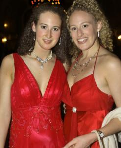 Sisters Kacie (left) and Erin Harrington of Newport.