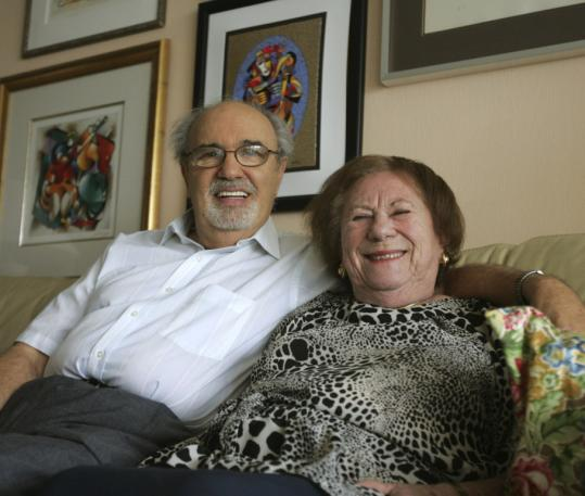 Herman Rosenblat and his wife, Roma. His recollection that the couple first met on opposite sides of a concentration camp fence has been questioned.