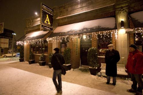 Oh, the weather outside is frightful: People walked into the Alchemist. See more pics from this event More info on the Alchemist Lounge SUBMIT Your nightlife photos! TALK What scene should we visit next?