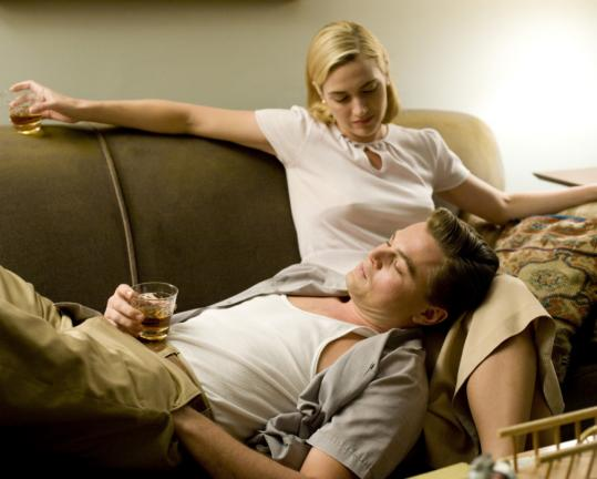 Kate Winslet plays Connecticut housewife April Wheeler and Leonardo DiCaprio is her husband, Frank, in ''Revolutionary Road.''