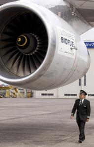 Air New Zealand flew a Boeing 747 for two hours on a 50-50 blend of jatropha oil and conventional jet fuel.