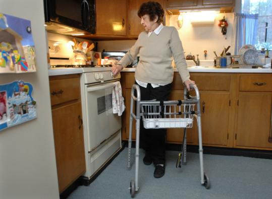 Phyllis Dubielak, at home recovering from a broken hip, is far down a 320-name waiting list for home care. The 84-year-old learned that she will no longer get physical therapy at home.