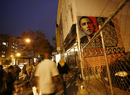 Obama has made an early mark U and 14th Streets.