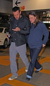 Ben Affleck and Jennifer Garner at Cedars-Sinai Medical Center in LA.
