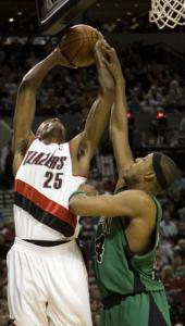 Paul Pierce was in a foul mood after the Celtics lost to Travis Outlaw and Portland.
