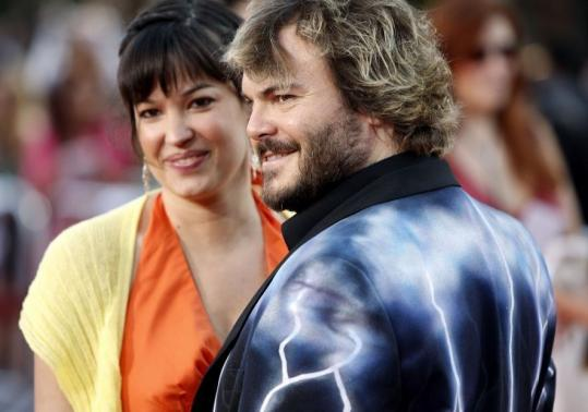 Jack Black and his wife, Tanya Haden, the daughter of bassist Charlie Haden. Black sings on his father-in-law's CD 'Rambling Boy.'