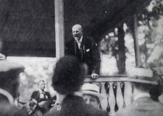 Eugene Debs (shown above in Ohio) was one of thousands of Americans arrested for voicing opposition to the war.
