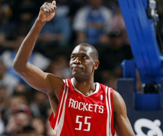 Dikembe Mutombo would have liked to play in Boston but he said the Celtics never made him an offer. So the veteran big man re-signed with the Rockets.
