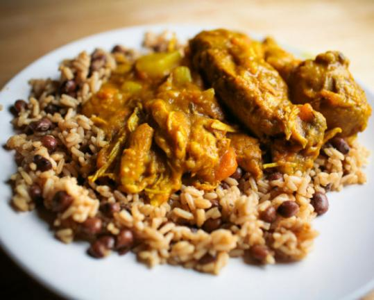 Jamaican curried chicken with rice and peas the boston globe jamaican curried chicken with rice and peas forumfinder Gallery