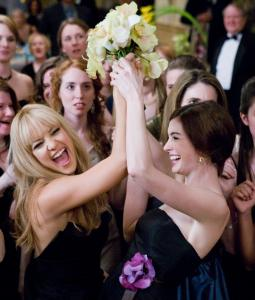 Kate Hudson (left) and Anne Hathaway portray two wedding-obsessed women in ''Bride Wars.''