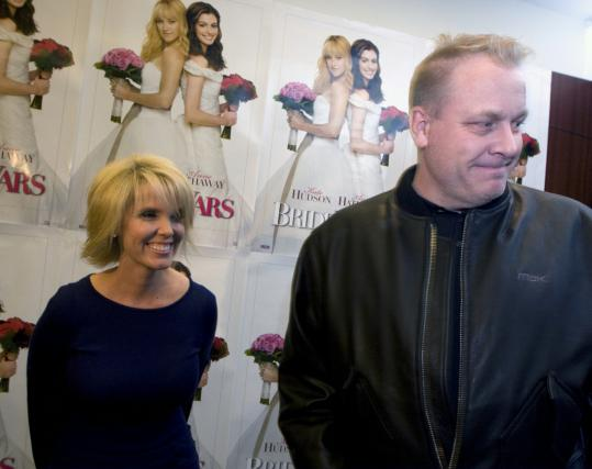 Shonda and Curt Schilling last night at Foxboro's Showcase Cinema.
