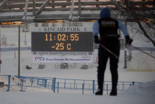 FROZEN OUT - For the second straight day, the US Cross Country Ski Championships were postponed because of subzero temperatures in Anchorage. It's hoped the races will resume today, the final scheduled day of the event.