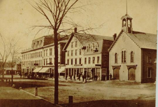 Archival photographs offer views of Natick's Main Street (Route 27) before the devastating fire of Jan. 13, 1874.