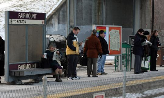 Bridgework as part of an upgrade to the Fairmount commuter rail line has disrupted service.