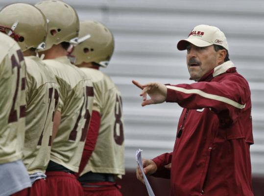 BC defensive coordinator Frank Spaziani fits the head coaching mold athletic director Gene DeFilippo is seeking.