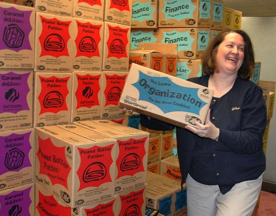 Kace Wilson coordinates the sale of Girl Scout cookies for 45,000 scouts in Eastern Massachusetts. She gets assistance from 17,000 volunteers spread across 178 communities.