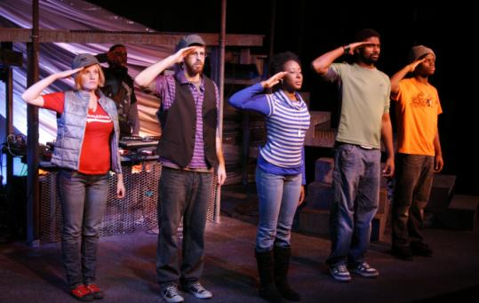 From left: Terri Deletetsky, DJ Reazon, Danny Balel, Marvelyn McFarlane, Nik Walker, and Tory Bullock in ''ARTiculation.''