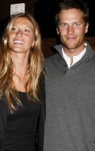 Gisele Bundchen and Tom Brady in New York last March.
