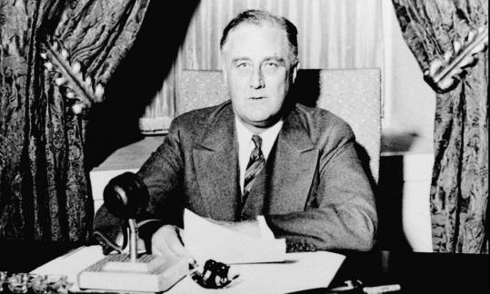 President Franklin D. Roosevelt addressed the nation on the banking crisis in 1933.