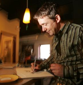 Peter H. Reynolds is a children's author, illustrator, and runs an educational media firm.