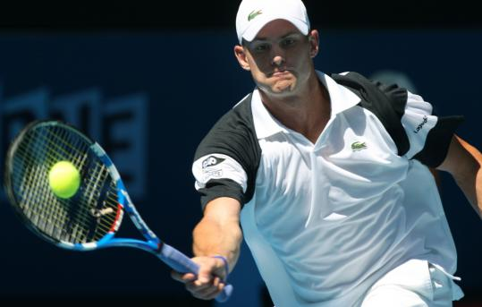American Andy Roddick hardly broke a sweat in dispatching Swedish qualifier Bjorn Rehnquist, 6-0, 6-2, 6-2.