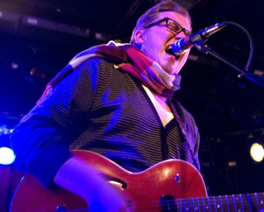 Singer and guitarist Aaron Perrino of Dear Leader performs Friday at the Paradise.