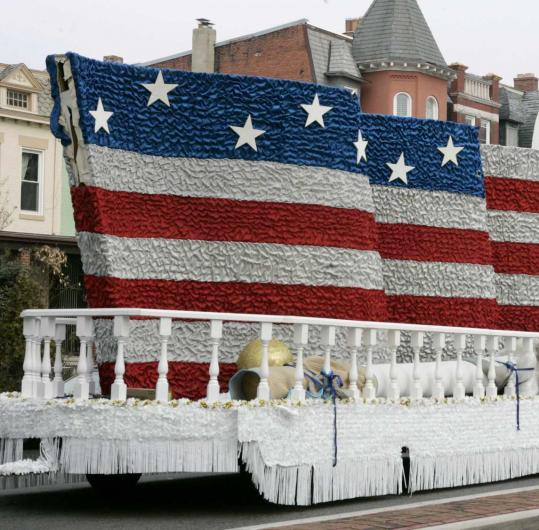 There will be no shortage of Americana during Barack Obama's Inauguration Day parade as evidenced by this float, depicting an America f