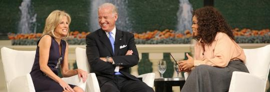 Jill Biden and Vice President-elect Joe Biden appeared on the ''Oprah Winfrey Show'' yesterday from Washington.