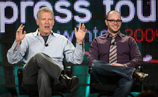 ''Lost'' executive producers Damon Lindelof (left) and Carlton Cuse at the Television Critics Association meeting last week.