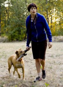 Michelle Williams stars as Wendy, a woman on a cross-country trip with her dog, in ''Wendy and Lucy.''