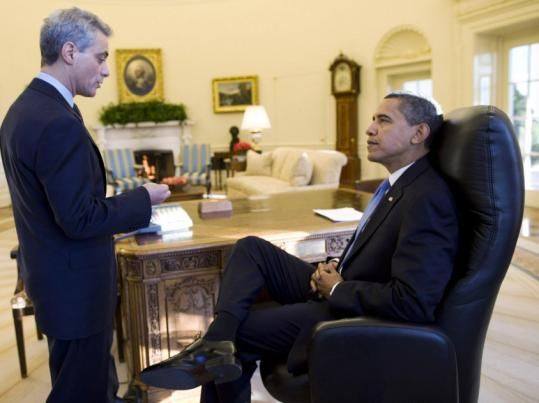 President Obama met with Chief of Staff Rahm Emanuel yesterday.
