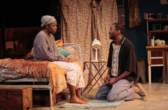 T. CHARLES ERICKSONRoslyn Ruff as Veronica and Colman Domingo as Alfred in ''Coming Home'' at the Long Wharf Theatre.
