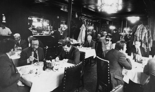 Patrons once flocked to lunch at Locke-Ober, on Winter Street at Downtown Crossing.